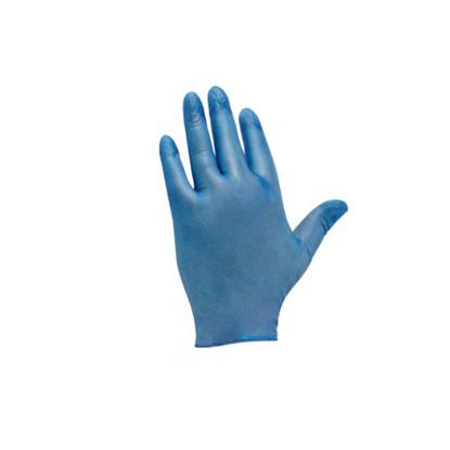 Blue Powdered Vinyl Gloves (Medium)
