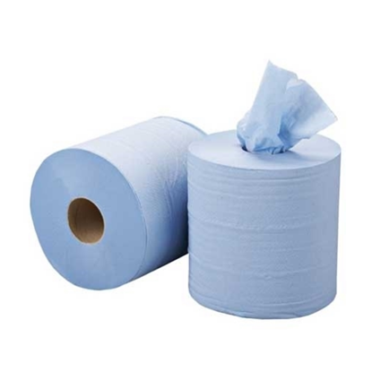 Centre Pull Roll Blue Flat Sheet
