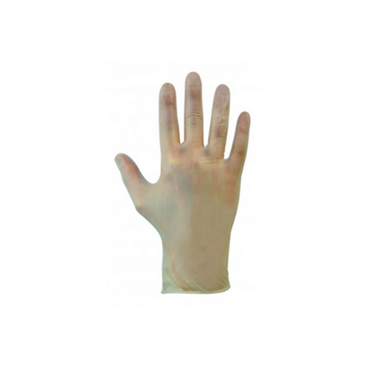 Clear Powdered Vinyl Gloves (Large)