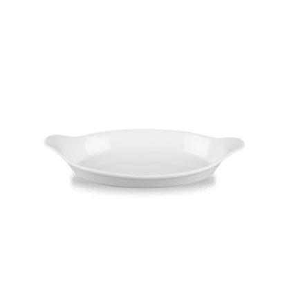 Churchill Cookware White Medium Oval Eared Dish 78cl (26.4oz)
