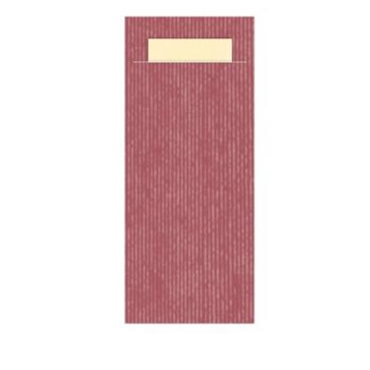Burgundy Pochette Ivory Napkin 23x39cm