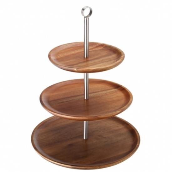 Acacia Three Tiered Sharing Platter