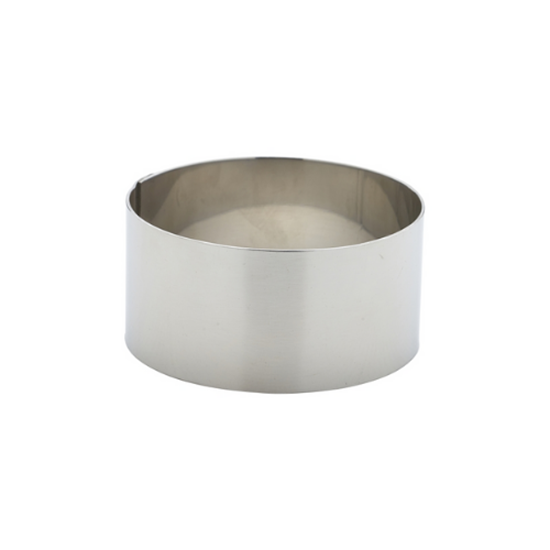"""Stainless Steel Mousse Ring 2.8x1.4"""" (7x3.5cm)"""