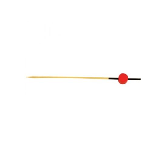 "Black & Red Bamboo Skewer 4.8"" (12cm)"