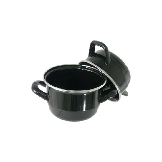 Black Enamel Mussel Pot 0.75L