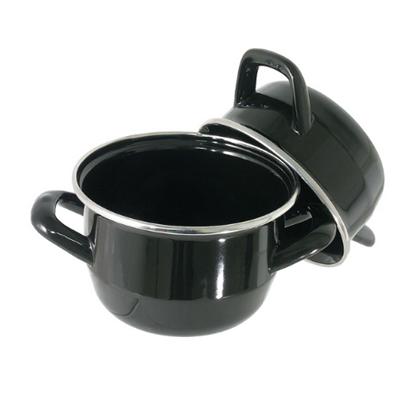 Black Enamel Mussel Pot 2.5L (88oz)