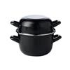 2.5L (88oz) Black Enamel Mussel Pot