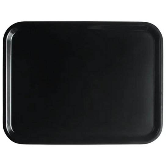 "Black Laminated Capri Tray 14x18"" (36x46cm)"