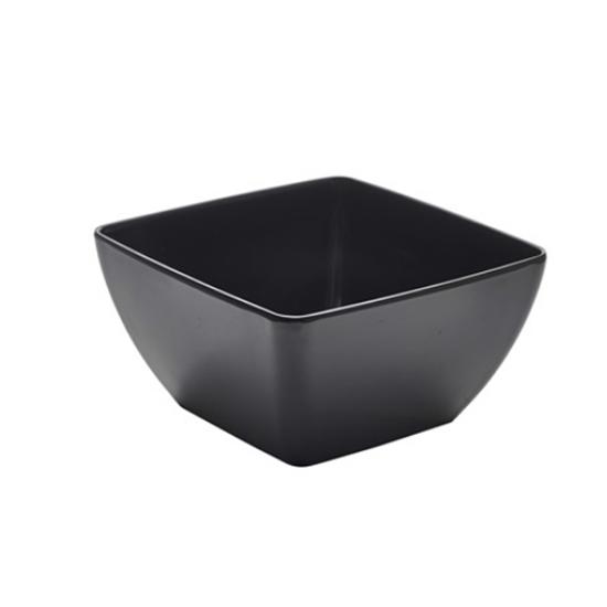 Black Melamine Curved Square Bowl 235cl (82.7oz)