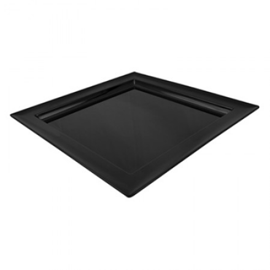 """Black Melamine Dover Square Tray 14.8x14.8x1.2"""" (37.5x37.5x3cm)"""