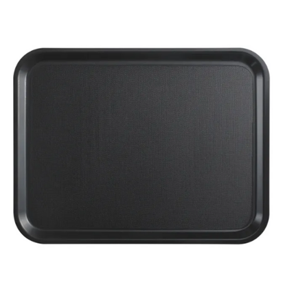 "Black Non-Slip Laminated Tray 14x18"" (36x46cm)"