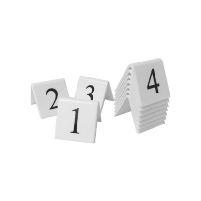 Black On White Table Numbers 1-10