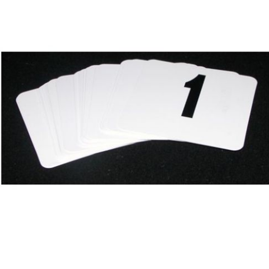 Black On White Table Numbers 1-50