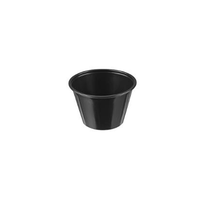 Black Plastic Ramekin 12cl (4oz)