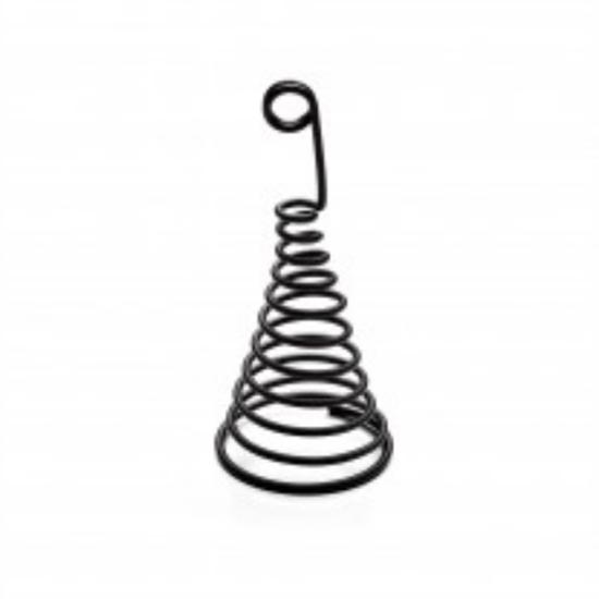 """Black Spiral Holder 2.4x5"""" (6x12.7cm)"""