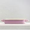 "14.2x8.5"" (36x21.5cm) Blue And Cream Enamel Rectangular Dish"
