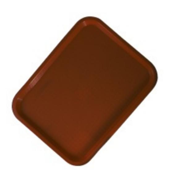 "Brown Fast Food Tray 14x10"" (35.6x25.4cm)"