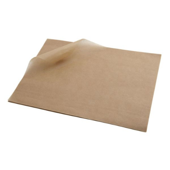 """Brown Greaseproof Paper Sheets 9.8x7.9"""" (25x20cm)"""