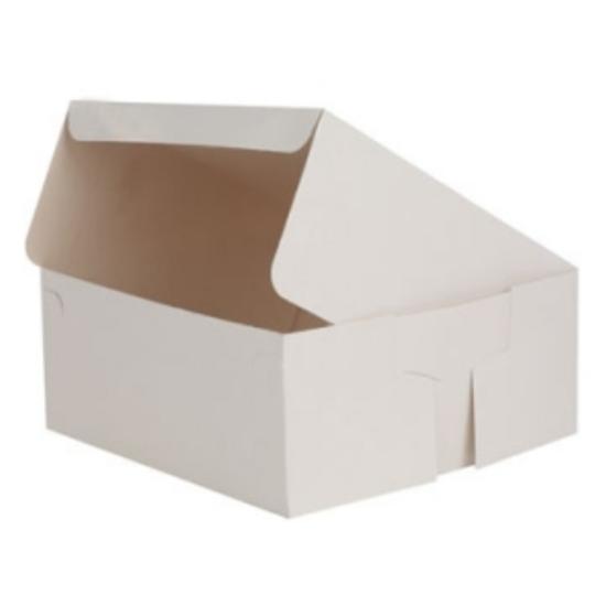 "Cake Box White 6x6x3"" (15.2x15.2x7.6cm)"