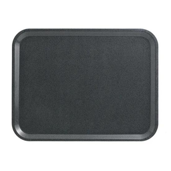 "Charcoal Laminated Capri Tray 14.2x18"" (36x46cm)"
