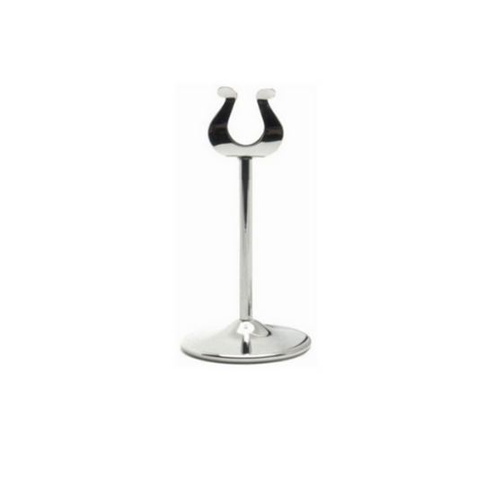 """Chrome Table Number Stand 4"""" (10cm)"""