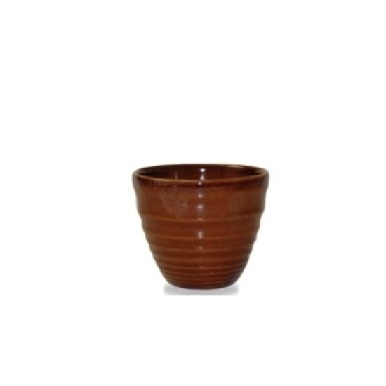 Churchill Super Vitrified Ripple Cinnamon Dip Pot 5.5cl (2oz)