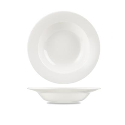 "Churchill Alchemy White Rimmed Soup Bowl 9.6"" (24.5cm)"