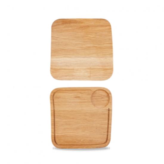"Churchill Art De Cuisine Medium Square Oak Board 10"" (25.5cm)"