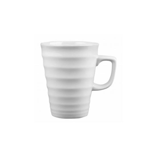 Churchill Bit On The Side White Ripple Latte Mug 29.6cl (10oz)