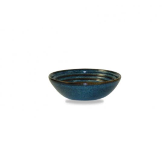 Churchill Bit On The Side Blue Ripple Dip Dish 14.3cl (5oz)