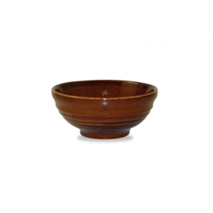 Churchill Bit On The Side Brown Ripple Snack Bowl 28cl (10oz)