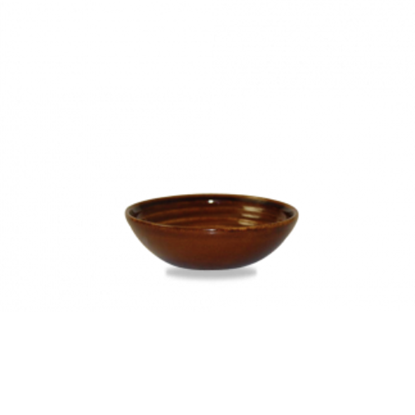 Churchill Bit On The Side Ripple Cinanamon Dip Dish 14cl (5oz)