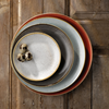 """6.5"""" (16.5cm) Churchill Stonecast Duck Egg Blue Coupe Plate"""
