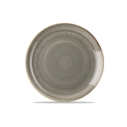 "Churchill Stonecast Peppercorn Grey Coupe Plate 11.3"" (28.8cm)"