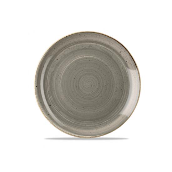 "Churchill Stonecast Peppercorn Grey Coupe Plate 11.3"" (28.8cm)"