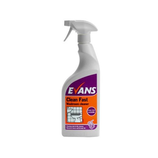 Evans Clean Fast Heavy Duty Washroom Cleaner 750ml