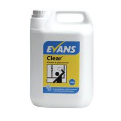 Evans Clear Glass & Window Cleaner 5L