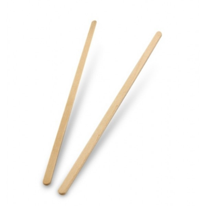 """Compostable Wooden Stirrers 7.5"""" (19cm)"""