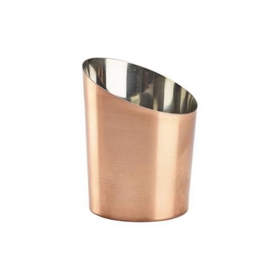 "Copper Plated Angled Cone 4.6x3.7"" (11.6x9.5cm)"