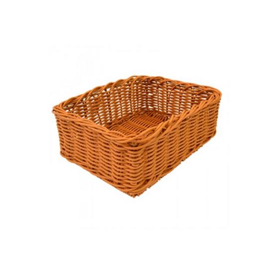 """Dalebrook Polywicker Basket 15.7x11.6x5.9"""" (40x29.5x15cm)"""