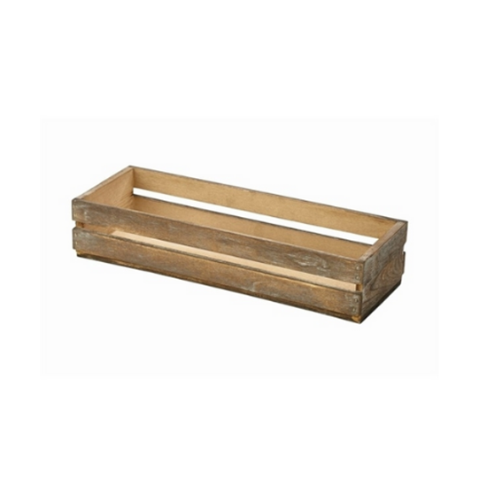 "Dark Rustic Wooden Crate 13.4x4.7x2.8"" (34x12x7cm)"