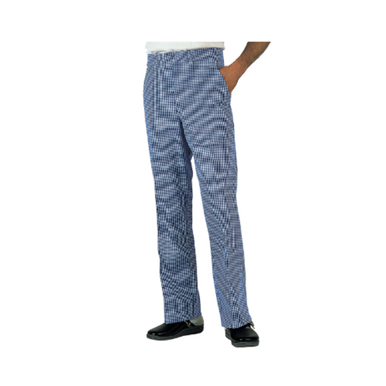 Denny Blue/White Check Trousers Medium