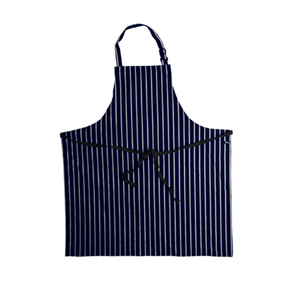 Denny Navy/White Striped Bib Apron