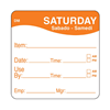 Dissolvable Saturday Use By Label 25x25mm