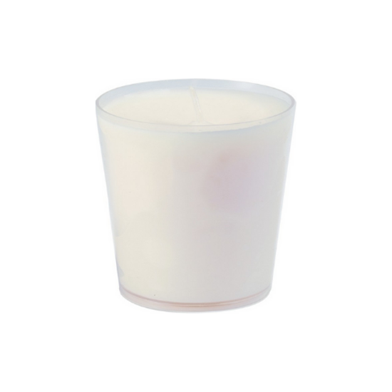 Duni White Refill Candle Glass
