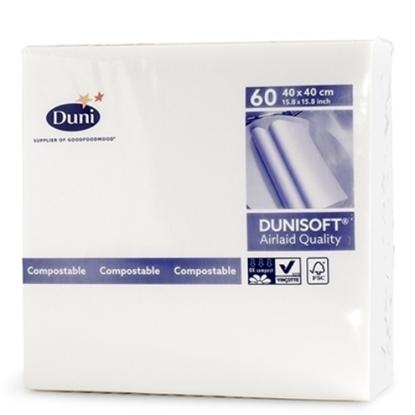 """Duni Airlaid White Napkin 15.7"""" (40cm)"""