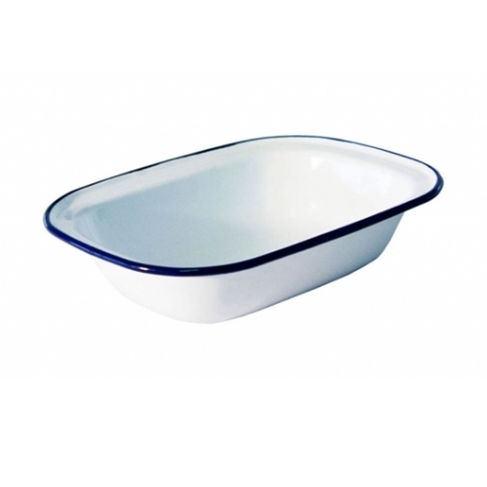 "Enamel Oblong Dish 7.9"" (20cm)"