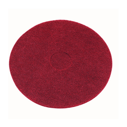 """Floor Cleaning Pads Red 17"""" (43cm)"""
