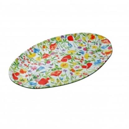 """Flores Oval Melamine Platter 20.5x11.8"""" (52x30cm)"""