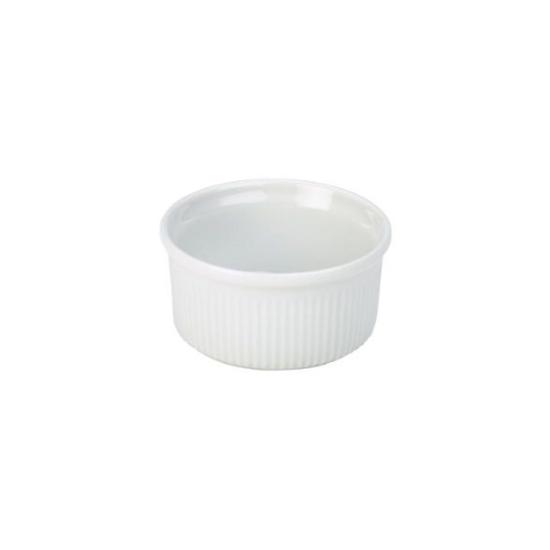 "Fluted Porcelain Ramekin 3.7"" (9.5cm)"